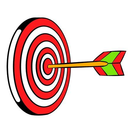 Target icon, icon cartoon Illustration