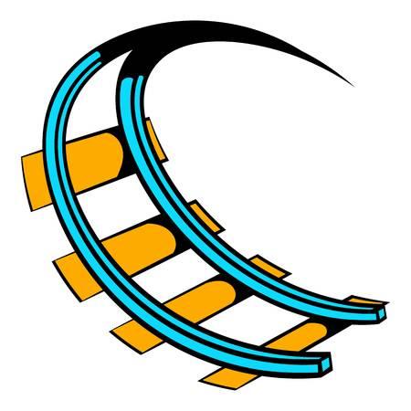 Icône Roller Coaster, icone dessin animé