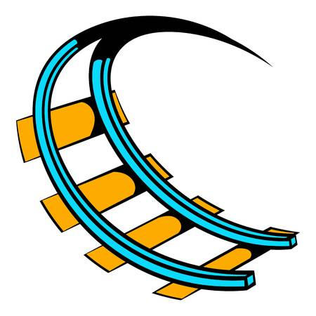 Roller coaster ride icon, icon cartoon Illustration