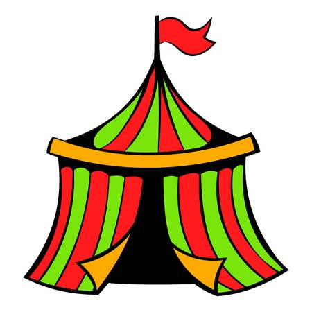 Circus tent icon, icon cartoon Illustration