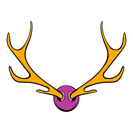 Deer head icon, icon cartoon