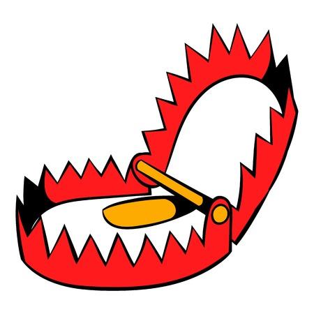 Sharp metal trap icon, icon cartoon