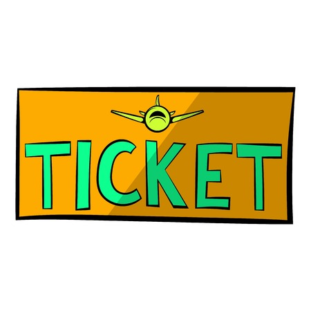 Plane tickets icon, icon cartoon Illustration