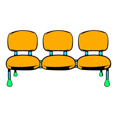Airport seats icon, icon cartoon