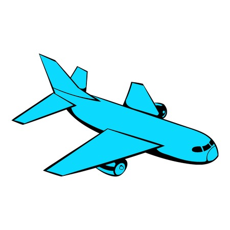 Passenger airplane icon, icon cartoon