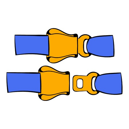 Aviation seat belt icon, icon cartoon Ilustração