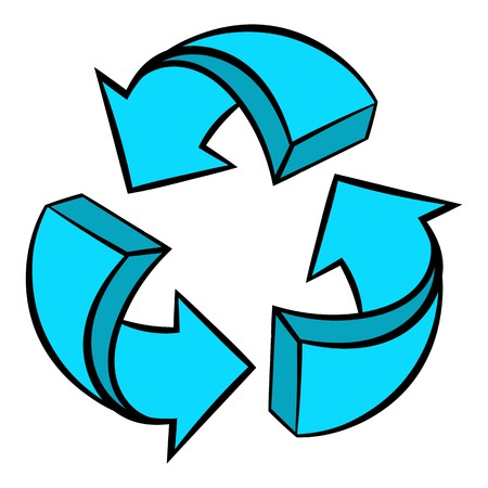 Circular arrows icon, icon cartoon