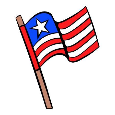 politicians: USA flag icon cartoon.