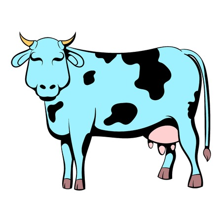 udders: Spotted cow icon cartoon