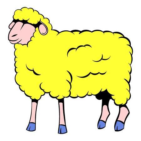 Sheep icon cartoon Illustration