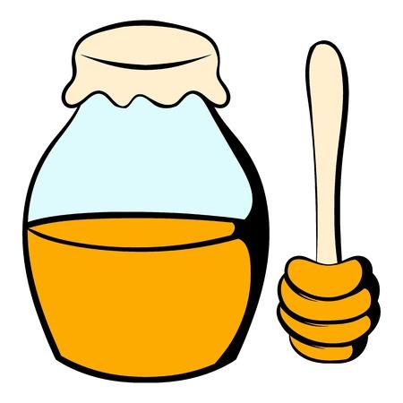 dipper: Honey bank and dipper icon cartoon
