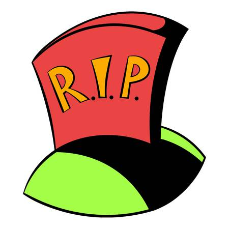 Tombstone RIP icon cartoon