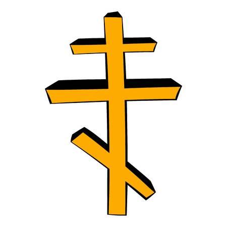 orthodoxy: Orthodox cross icon cartoon Illustration