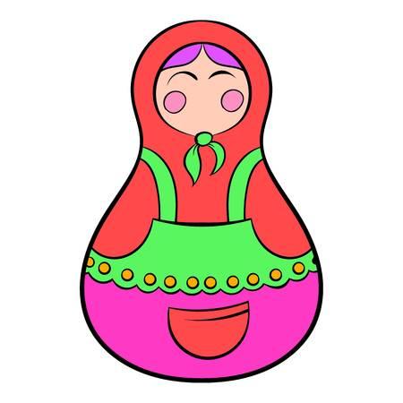 matreshka: Matryoshka icon cartoon