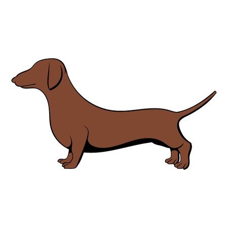 Dachshund icon cartoon Illustration