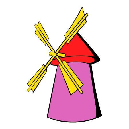 Windmill icon cartoon