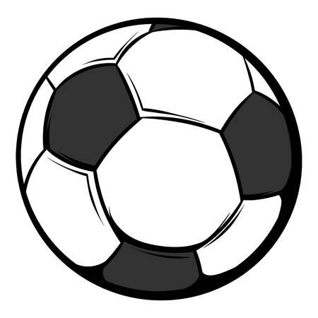 サッカー ボールのアイコン漫画  イラスト・ベクター素材