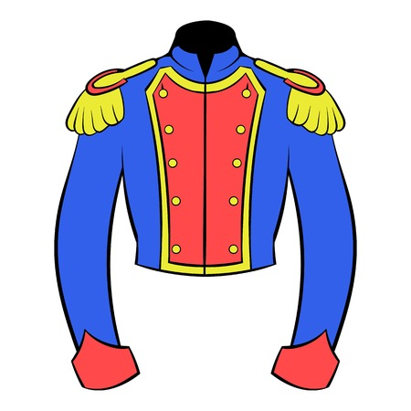 French historical uniform of soldier icon cartoon