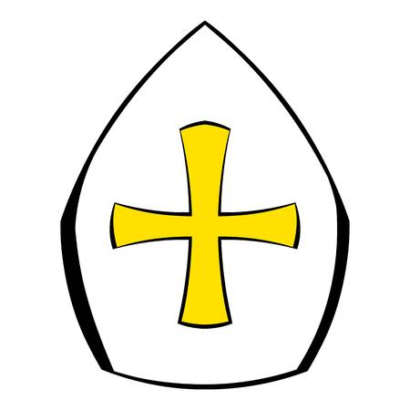 Papal tiara hat with cross icon cartoon royalty free cliparts papal tiara hat with cross icon cartoon stock vector 74216981 maxwellsz