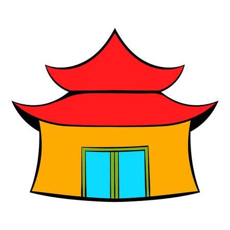 Pagoda icon cartoon