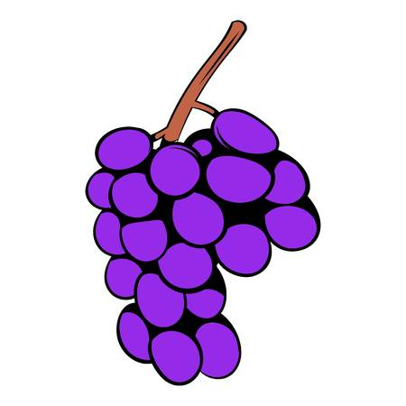 Grape branch icon cartoon