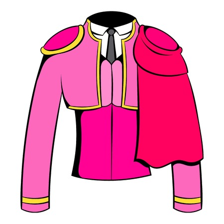 corrida de toros: Español torero chaqueta icono de dibujos animados