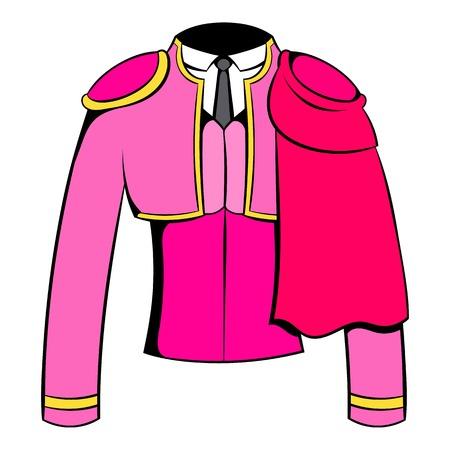 Spanish torero jacket icon cartoon Illustration