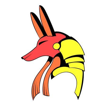 Anubis head icon cartoon