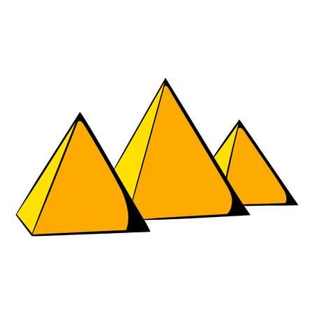 Egyptian pyramids icon cartoon Illustration