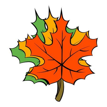 Maple leaves icon cartoon