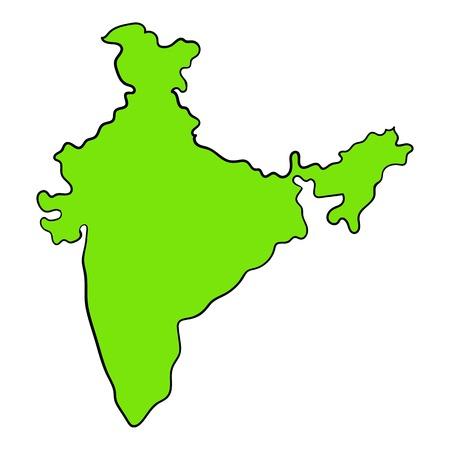 Map of India icon cartoon