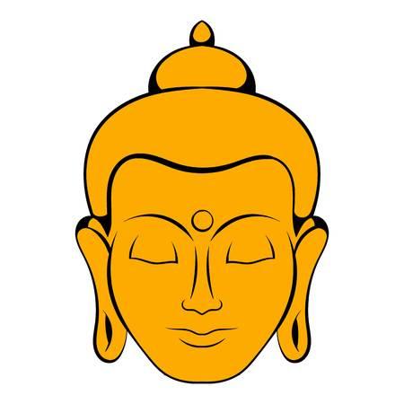Head of Buddha icon cartoon