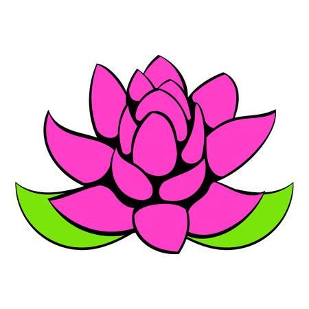 om: Creative design of a  Lotus flower icon cartoon. Illustration