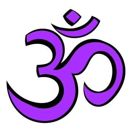 Hindu Om Symbol Icon Cartoon Royalty Free Cliparts Vectors And