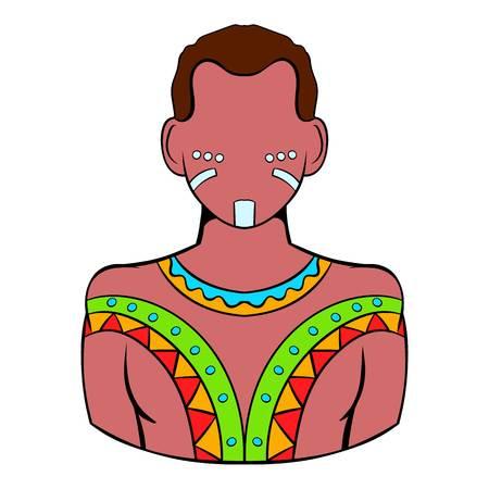 aborigine: Australian aborigine icon cartoon