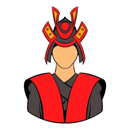 Samurai icon cartoon Illustration