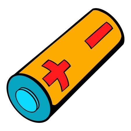 Electronic cigarette battery icon cartoon
