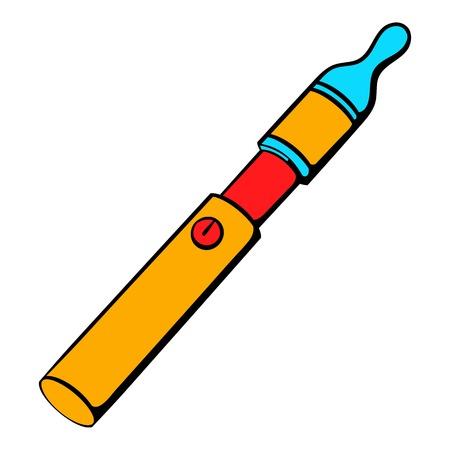 Electronic cigarette icon cartoon Illustration