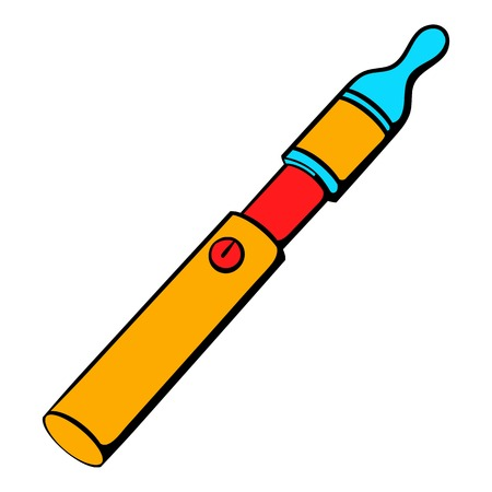 Electronic cigarette icon cartoon Illustration