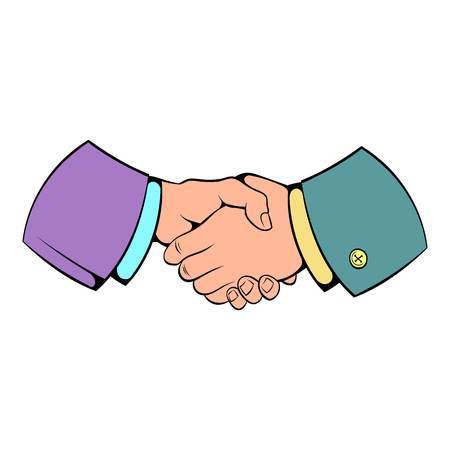 Handshake icon cartoon Illustration