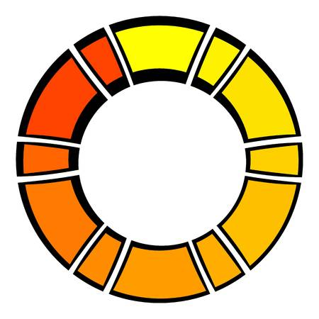 Loading process circular icon cartoon Illustration