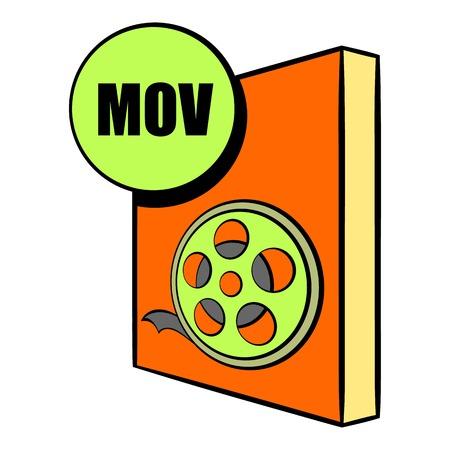 mov: MOV file icon cartoon