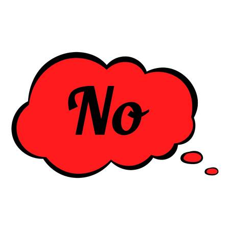 No in cloud icon cartoon