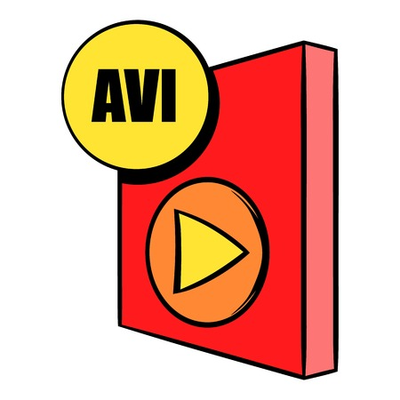 avi: AVI file icon cartoon Illustration