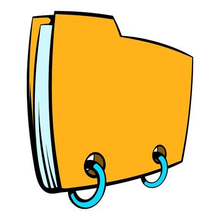 Yellow file folder icon cartoon