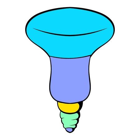 LED bulb icon cartoon Illustration