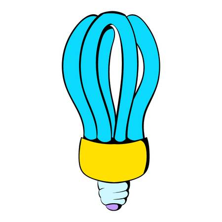 Fluorescence lamp icon cartoon