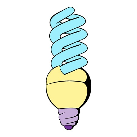 Energy saving lamp icon cartoon