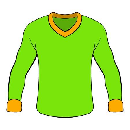 404 long sleeved shirt stock vector illustration and royalty free rh 123rf com Long Sleeve T-Shirt Template long sleeves clipart