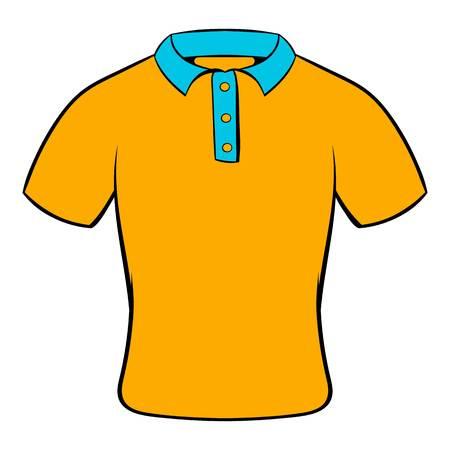 Mens polo shirt icon cartoon